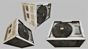 rusty air conditioner 02 3D model
