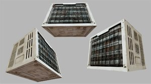 rusty air conditioner 01 3D model
