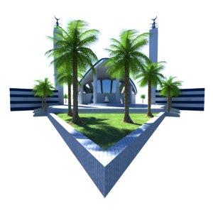 3D aspire mosque doha qatar
