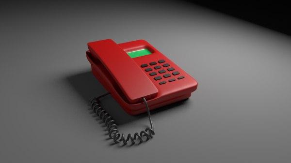 3D landline telephone