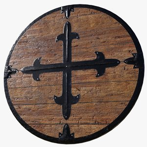 historically medieval shield 3D model