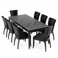 3D dining table hermitage