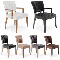 chairs mimi quilted dining 3D model
