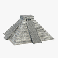 3D ancient mayan pyramid model