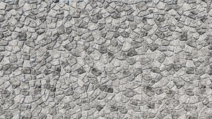3D model natural grey granite stone wall