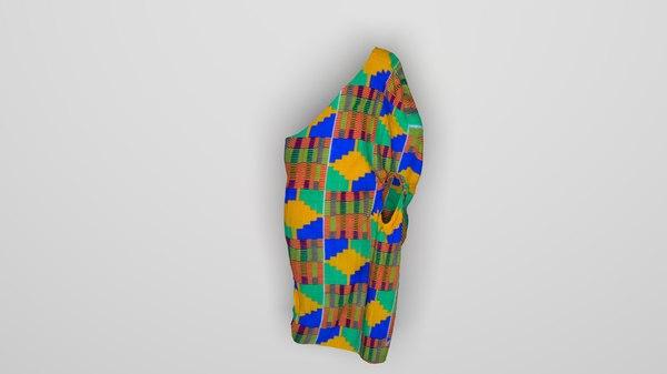3D kente cloth model