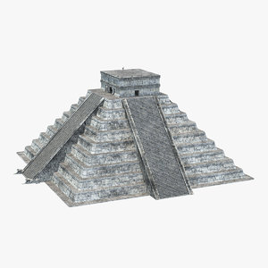 kukulkan temple mayan pyramid 3D model
