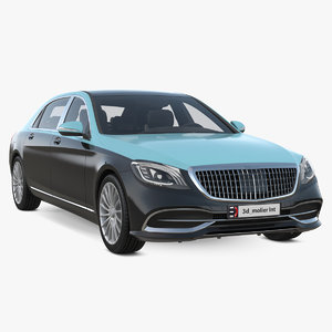luxury generic limousine 3D