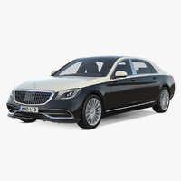 3D mercedes benz s560 maybach