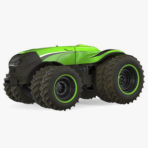 self-driving drone tractor dusty 3D