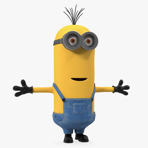 tall eyed minion rigged 3D model