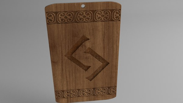 3D magic amulet model