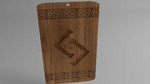 3D magic amulet model