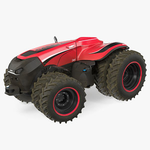 self-driving drone tractor dusty 3D model