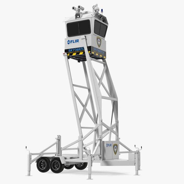 3D flir skywatch mobile surveillance model
