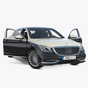 3D mercedes benz s-class maybach model