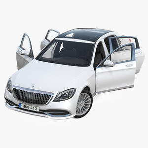 mercedes s560 maybach rigged 3D