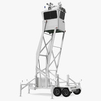 mobile security tower rigged model