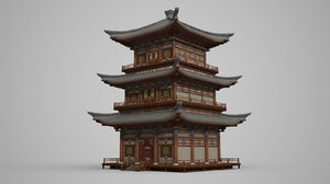 3D multi-storey attic palace