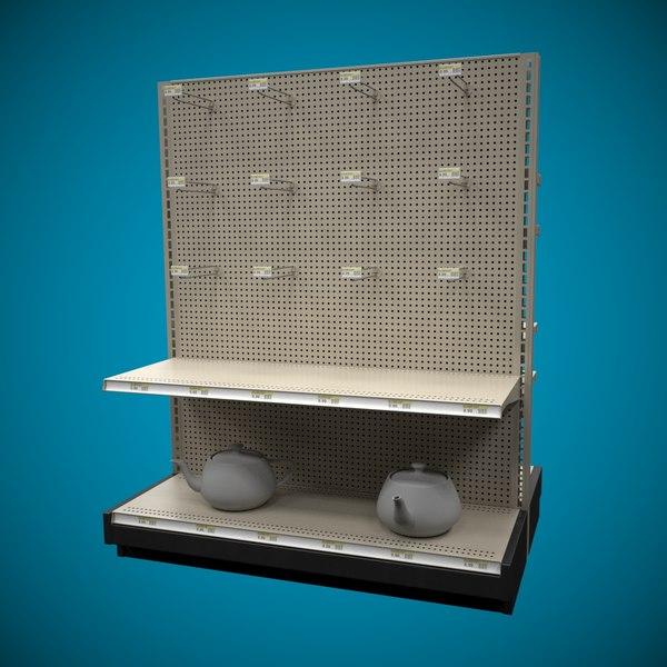 3D model shelf super markets