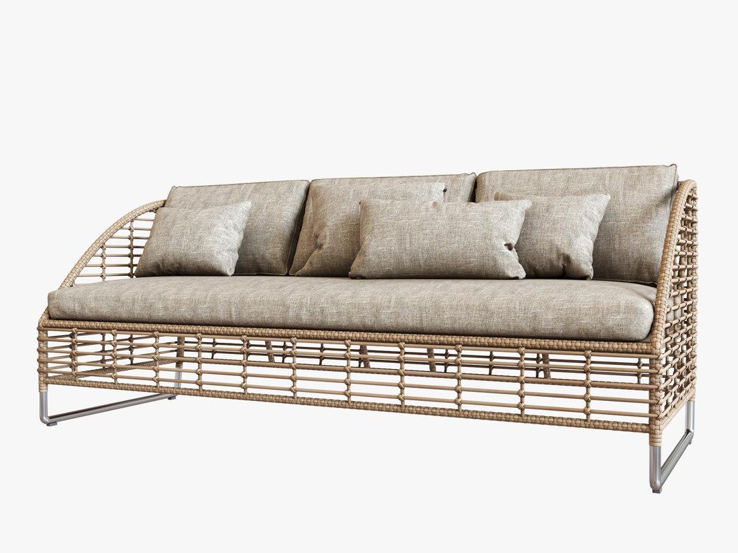 sofa season sun 3D model
