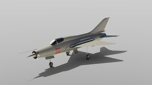mig 21 fighter jet 3D model