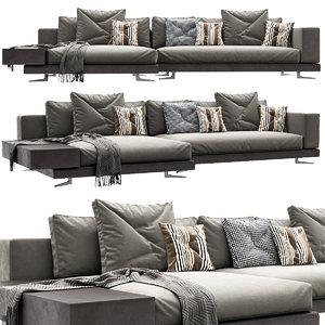 sofa minotti pillow 3D model