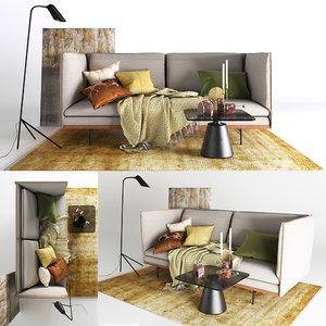 3D boconcept sofa nantes