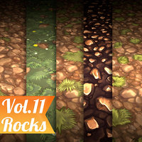 Texture Set Vol.11 Hand Painted Ground (Stylized Texture Flooring)