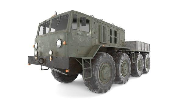 3D soviet truck maz 537l