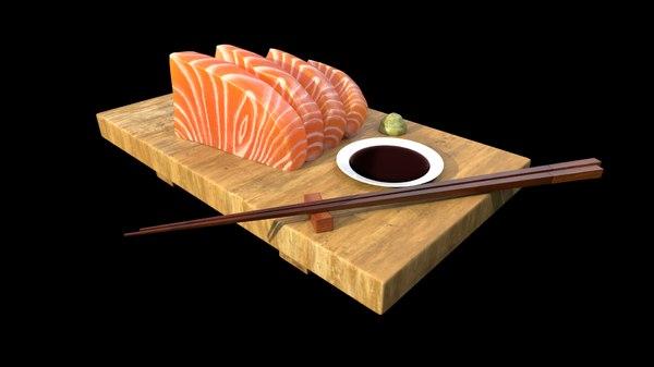 3D model set salmon