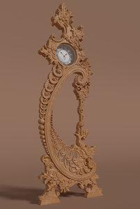 ornaments decor watch interior 3D model
