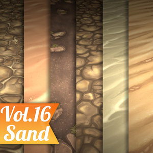 Texture Set Vol.16 Hand Painted Sand