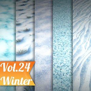 Texture Set Vol.24 Hand Painted Snow