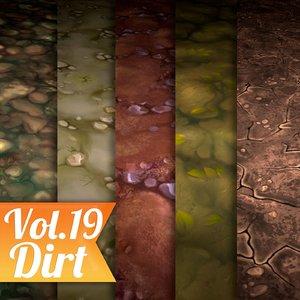 Texture Set Vol.19 Hand Painted Dirt