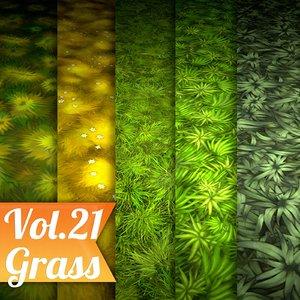 Texture Set Vol.21 Hand Painted Grass