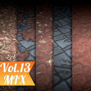Texture Set Vol.13 Hand Painted Ground Dirt (Stylized Texture Dirt )