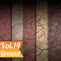 Texture Set Vol.14 Hand Painted Ground (Stylized Texture Ground)