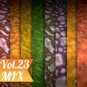Texture Set Vol.23 Hand Painted Ground Mix