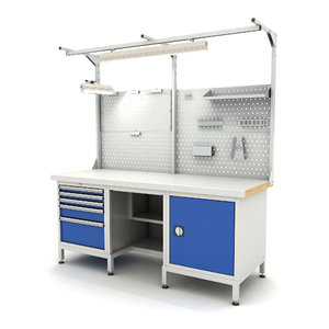 3D model adjustable workbench d5t 1900x720x2055