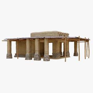 old arabic islamic house 3D model