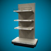 3D end cap shelves shelf model