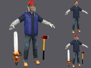3D model lumberjack 2019