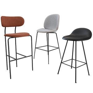 beetle bar chair stool 3D model
