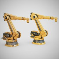 Industrial Robot Arm - Generic 01 (Clean & Dirty)