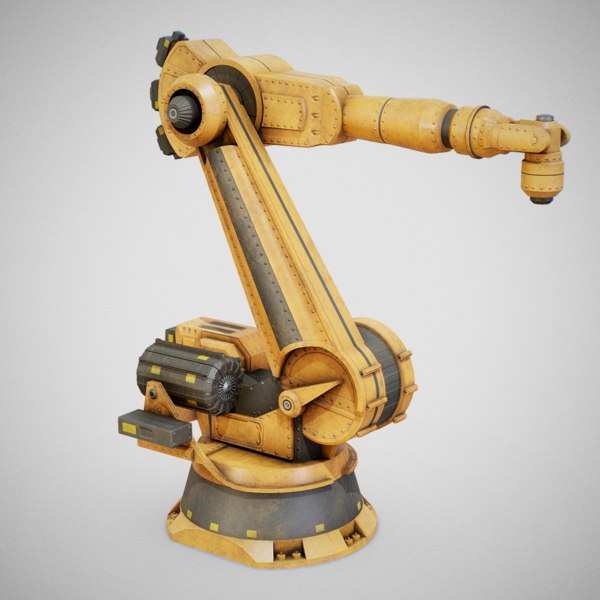 industrial robotic arm bot 3D model