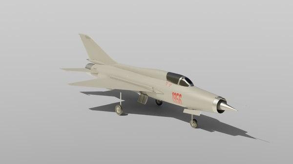 mig 21 fighter jet 3D model