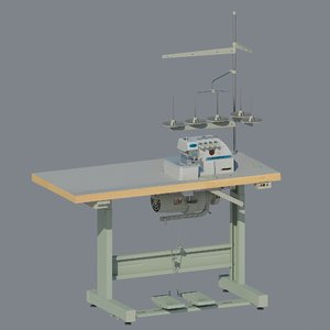 sewing industrial overlock yamata 3D