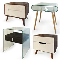 Modern nightstand and bedside table set IMODERN