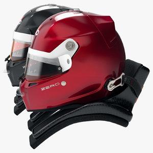 3D racing helmet style stilo model